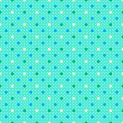 Vector Background #Polka Dots, Mintgreen
