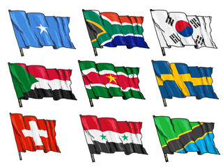 set of national flags