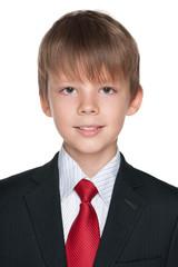 Portrait of a happy schoolboy