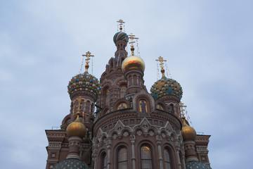 Санкт-Петербург. Собор Воскресения Христова пасмурным утром