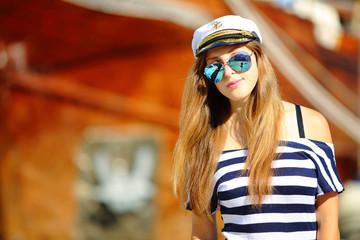 beautiful girl captain