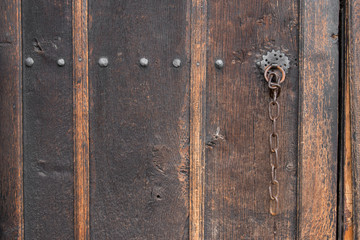 Old Wooden Vintage Gate. Background and Texture