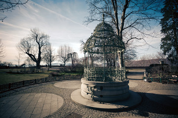 Water well on Schlossberg hill in Graz city