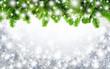 canvas print picture - Tannenzweige und Schneeflocken