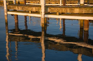 Sunset on Boat Dock Slip