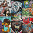 graffiti,collage