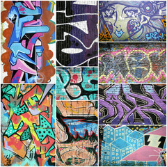 abstract background graffiti,collage