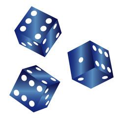 Würfel - Blau -  3D