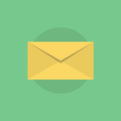 E-mail flat icon illustration