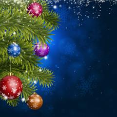 Blue Christmas Fir-tree Decoration
