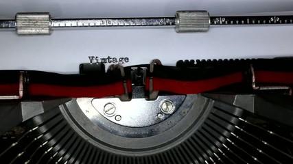TYPEWRITER with written Vintage