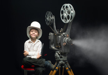 Cinema and boy