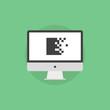 Data encryption flat icon illustration