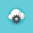 Cloud services flat icon illustration