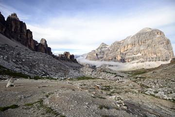 Mountain path on the italian Alps