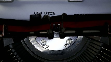 TYPEWRITER with Old Style in the paper