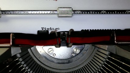 TYPEWRITER with Vintage in the paper