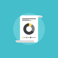 Financial report flat icon illustration