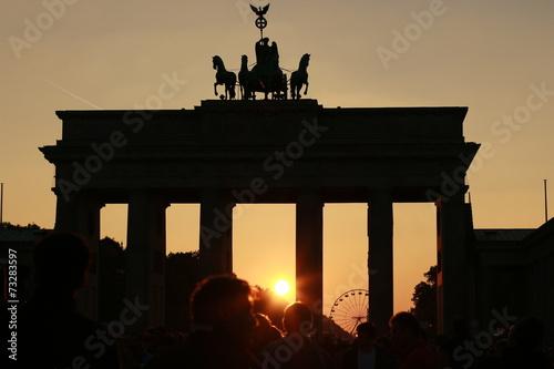 Spoed canvasdoek 2cm dik Berlijn Tag der deutschen Einheit I