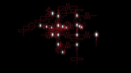 Crazy links network diagram.