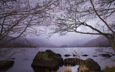 Anochecer en el Parque Natural del Lago de Sanabria, Zamora.