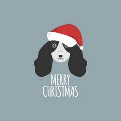 Merry Christmas Card, Cocker Spaniel