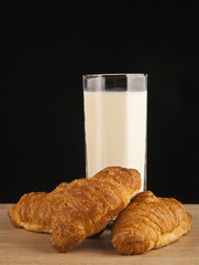 milk and croissants