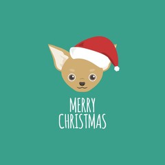 Merry Christmas Card, Chihuahua