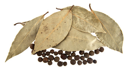 the Bay leaves and pepper