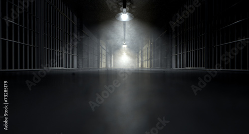 Jail Corridor And Cells - 73285179
