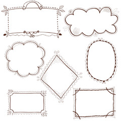 Set of decorative frames