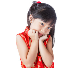 Happy chinese little girl new year