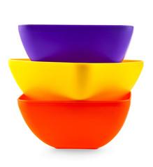 Plastic salad dish of various colors