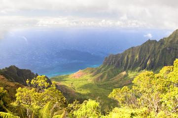 Kalalau Valley, Na Pali coast, Kauai, Hawaii.