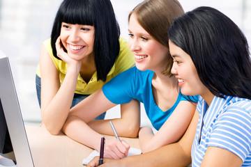 Three girl friends