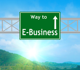 E-Business Green Road Sign