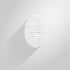 Letter A logo icon fingerprint style and long shadow.