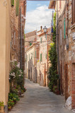 Fototapety The medieval old town in Tuscany, Italy