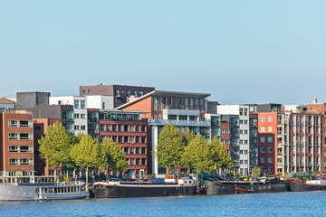 Contemporary apartment buildings in Amsterdam
