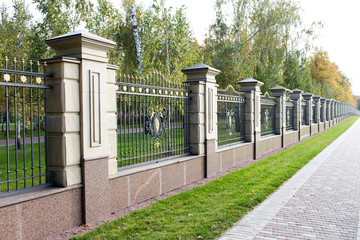 fence made of stone