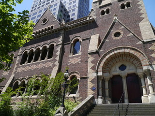 The building of Collins Street Uniting Church in Melbourne