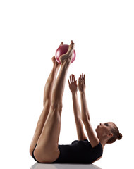 Gymnastics exercise with ball