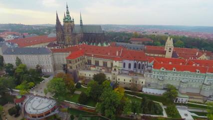 Prazsky Hrad Prague Castle residence of Czech President aerial