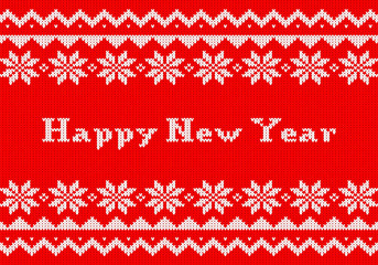gestrickte Neujahrs - Karte