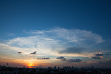 Sunset sky in Bangkok Thailand