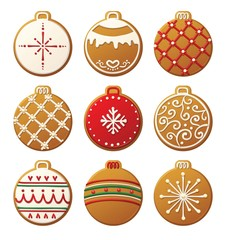 Christmas Cookies Set Ornaments 02