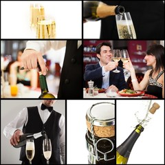 Champagne and celebration concept