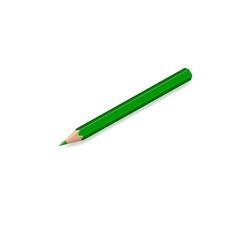 Pencil crayon, green