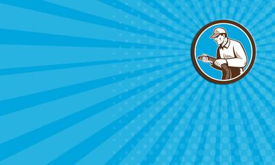 Business card Home Insulation Technician Retro Circle