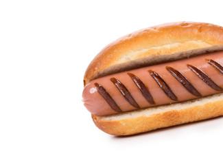 Tasty hot dog.